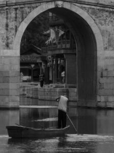 A lone boatman